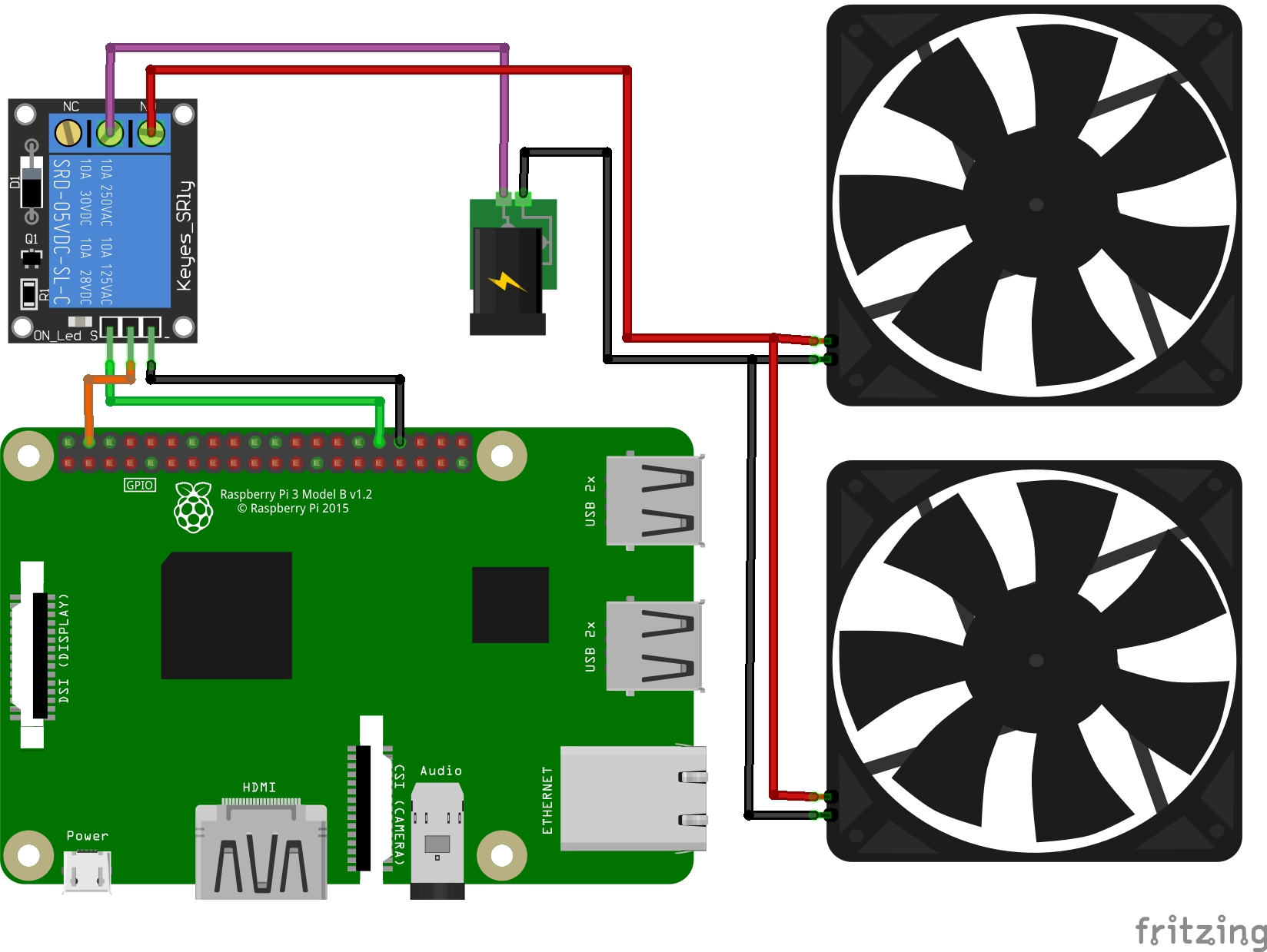 External Fan Schematic